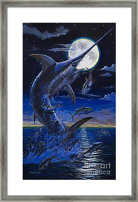 Moon Doggie Off00124 Framed Print by Carey Chen