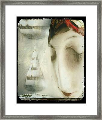 Moon Face Framed Print