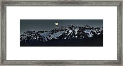 Moon Fall Framed Print