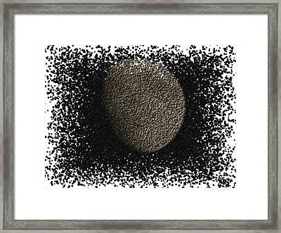 Moon Gimp Edit Framed Print by Stephen Melcher