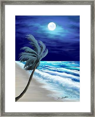 Moon Glow Bay Framed Print by Amy Scholten