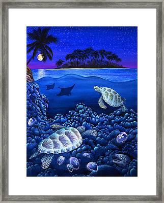 Moon Glow Framed Print by Carolyn Steele