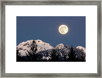 Moon Glow Whistler Canada Framed Print by Pierre Leclerc Photography