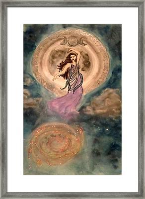 Moon Goddess Framed Print by Jennie Hallbrown