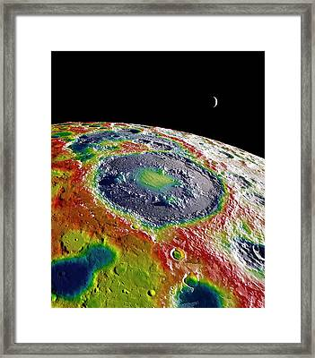Moon Gravity Map Framed Print by Nasa