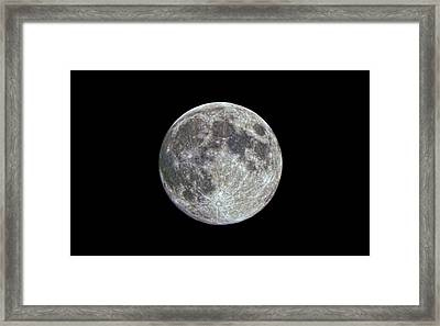 Framed Print featuring the photograph Moon Hdr by Greg Reed
