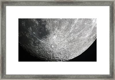 Moon Hi Contrast Framed Print by Greg Reed