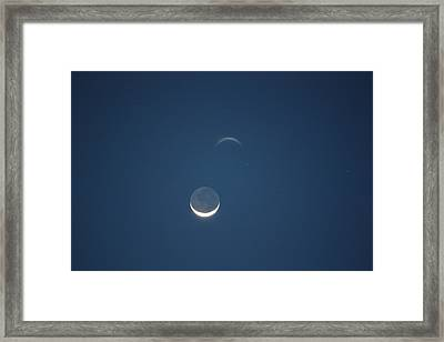 Moon In Blue Framed Print