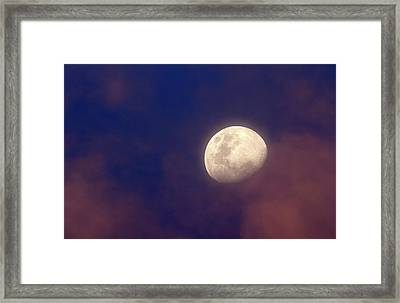 Moon In Clouds Framed Print