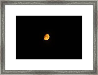 Moon In Orange  Framed Print
