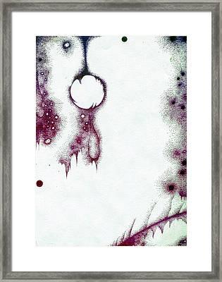 Moon In Suspension Framed Print by Dyana Schoenstadt