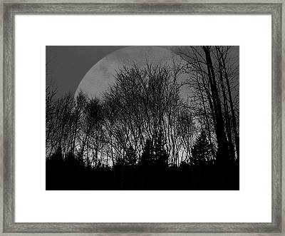 Moon Framed Print by Jason Lees