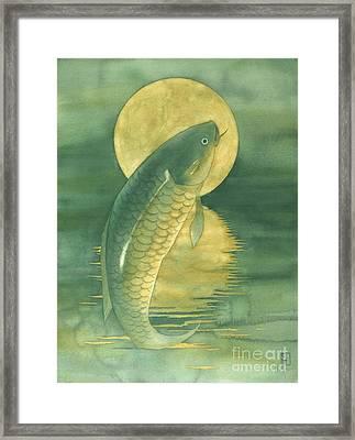 Moon Koi Framed Print