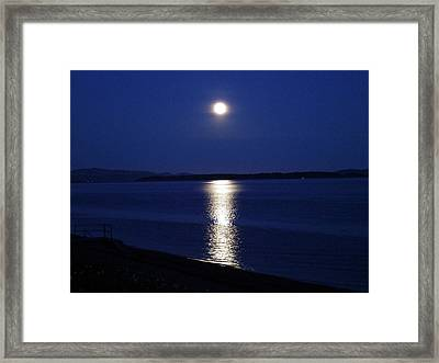 Moon Lady Framed Print