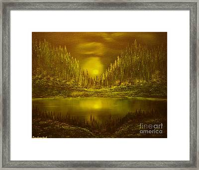 Moon Lake Reflection-original Sold- Buy Giclee Print Nr 33 Of Limited Edition Of 40 Prints  Framed Print