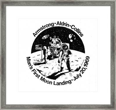 Moon Landing Framed Print by J W Kelly