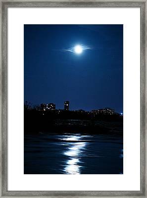 Moon Light Framed Print by Andre Faubert