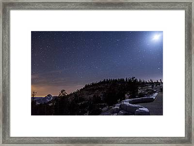 Moon Light At Olmstead Point Framed Print by Cat Connor