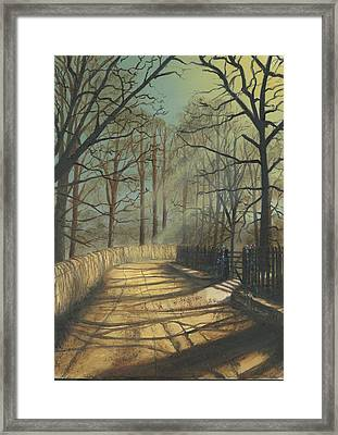 Moon Light Autumn Framed Print