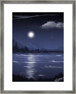 Moon Light Framed Print