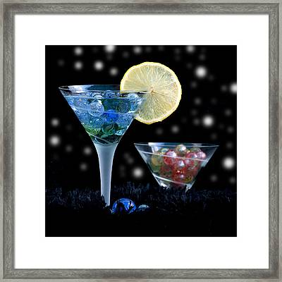 Moon Light Cocktail Lemon Flavour With Stars 1 Framed Print