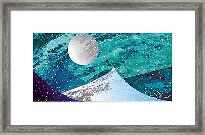 Moon Light Mountains Framed Print