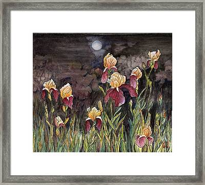 Moon Light At My Backyard Framed Print by Ping Yan