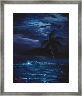 Moon Light Tropics Framed Print