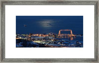 Framed Print featuring the photograph Moon-lit Arrival by Gregory Israelson