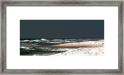 Moon Lit Beach Framed Print by Mechala  Matthews