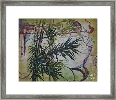 Moon Lovers With Flute  Framed Print