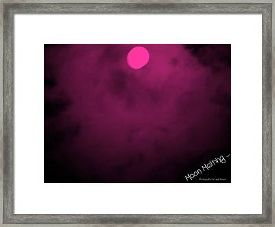 Moon Melting Framed Print