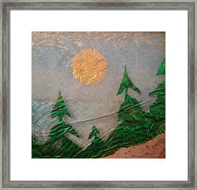 Moon Mist  Framed Print by Rick Silas