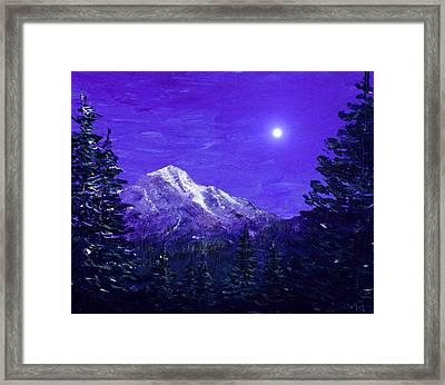 Moon Mountain Framed Print by Anastasiya Malakhova