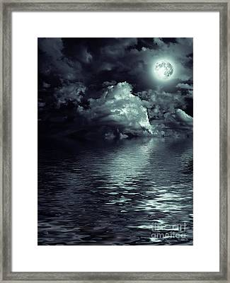 Moon Mysterious Framed Print by Boon Mee