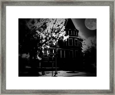 Framed Print featuring the photograph Moon N U by Robert McCubbin