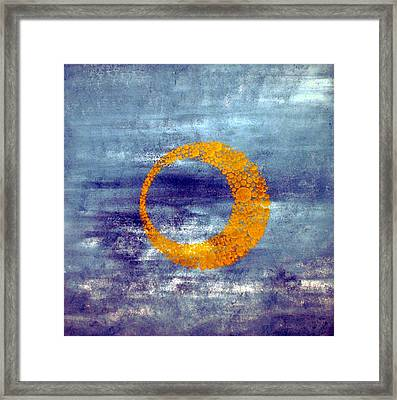 Framed Print featuring the painting Moon by Nico Bielow