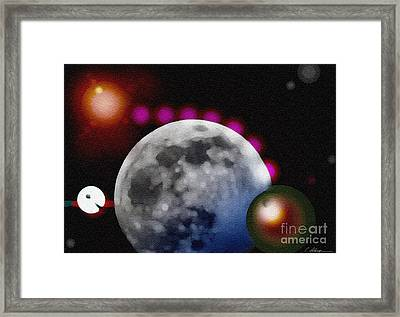 Moon No. 9. 2014 Framed Print by Cathy Peterson