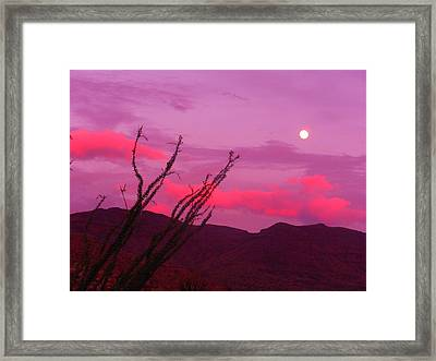 Moon Of The West Framed Print