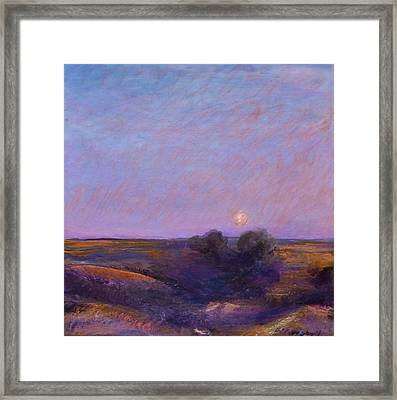 Moon On The Horizon Framed Print by Helen Campbell