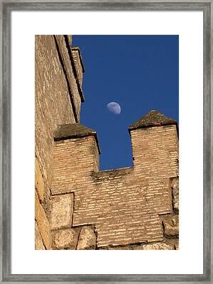 Moon Over Alcazar Framed Print