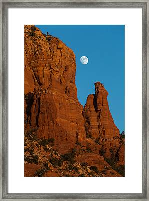 Moon Over Chicken Point Framed Print by Ed Gleichman