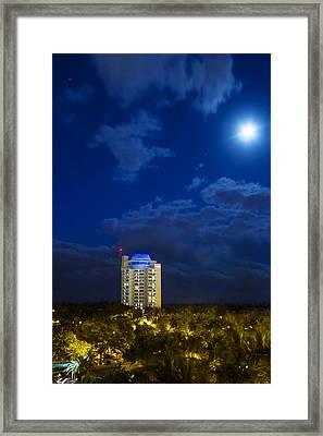 Moon Over Ft. Lauderdale Framed Print