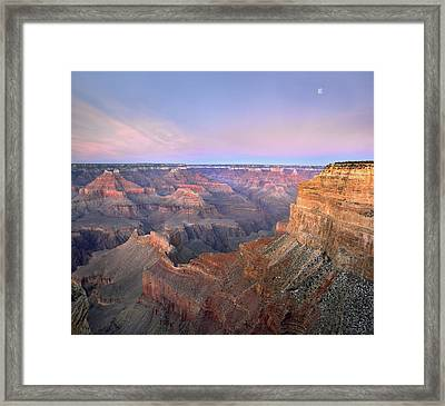 Moon Over Grand Canyon National Park Framed Print by Tim Fitzharris