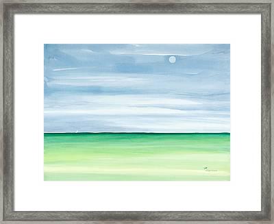 Moon Over Islamorada Framed Print by Michelle Wiarda