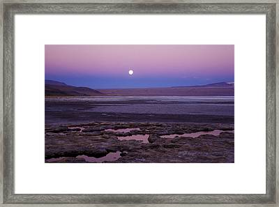 Framed Print featuring the photograph Moon Over Laguna Colorada by Lana Enderle