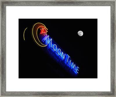 Moon Over Moon Time Framed Print