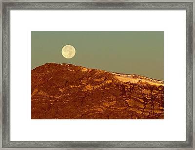 Moon Over Mount Ida Framed Print