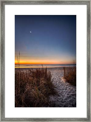 Moon Over Myrtle Beach Framed Print