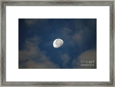 Moon Over Philadelphia Framed Print
